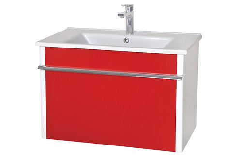 Ensemle Lavabo Paris 65 rouge