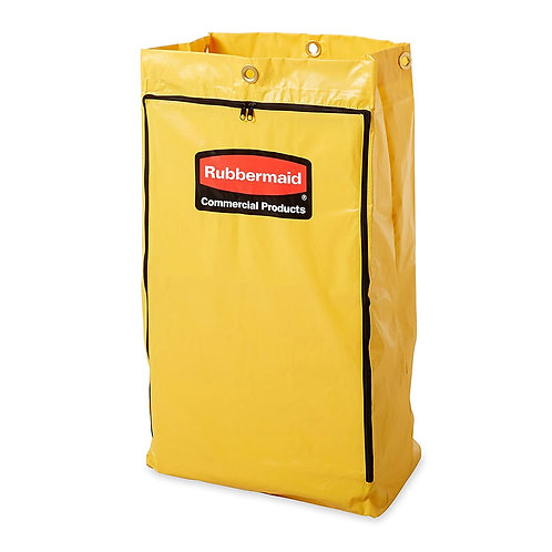 Rubbermaid® Yellow Vinyl Zippered Trash Bag for Janitor Carts