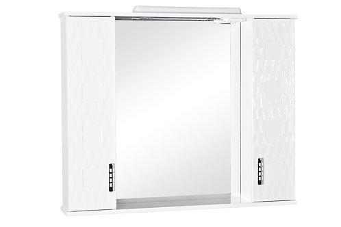 Miroir Assol 100 avec 2 armoires de chaque côté