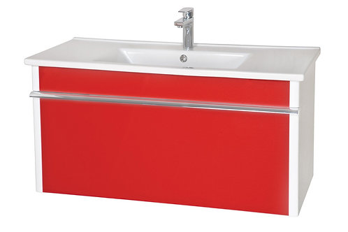 Ensemble Lavabo Paris 100 rouge suspendu