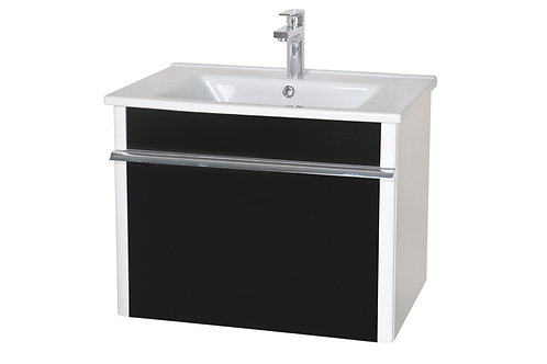 Ensemble Lavabo Paris 65 noir suspendu