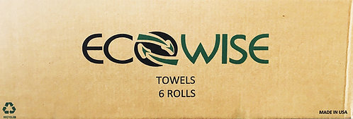 ECOWISE TOWELS - 6 roll CASE