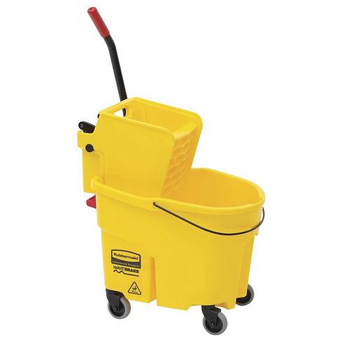 Rubbermaid® Wave Brake Mop Bucket with Wringer