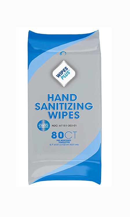 6-PACK:  WIPES PLUS hand sanitizing, alcohol-free wipes