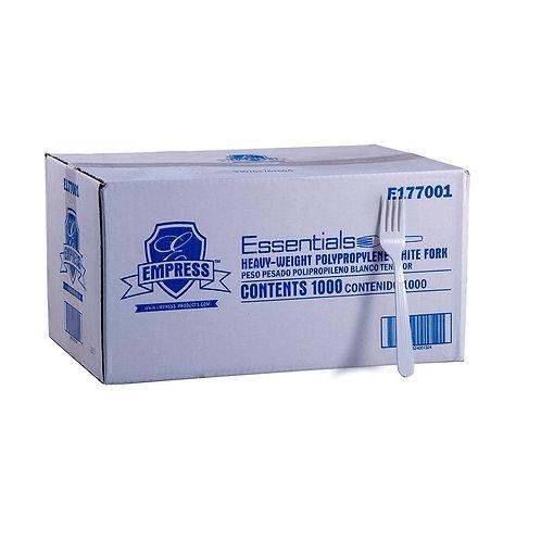 Empress™ Plastic Fork Heavy Weight - CASE/1000