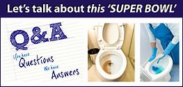 Q & A - TOILET CLEANING - WITH TEXT-BORD