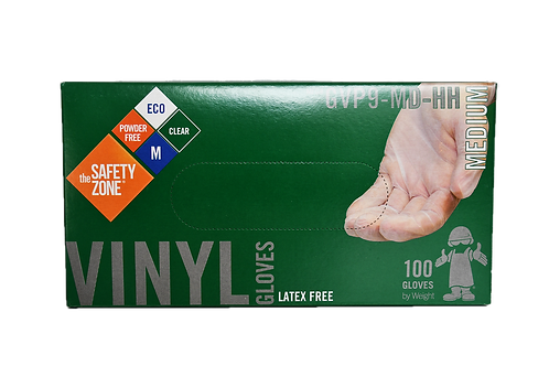 The Safety Zone ® Vinyl Gloves - Size M