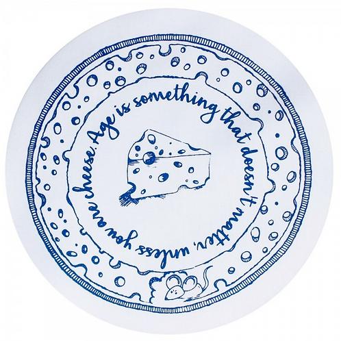 Copri piatti lavabile (Taglia M) - Formaggio