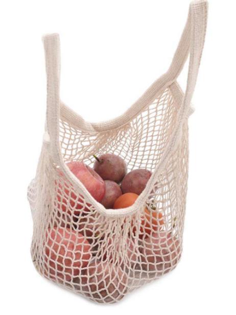 White Organic Short Handle Bag