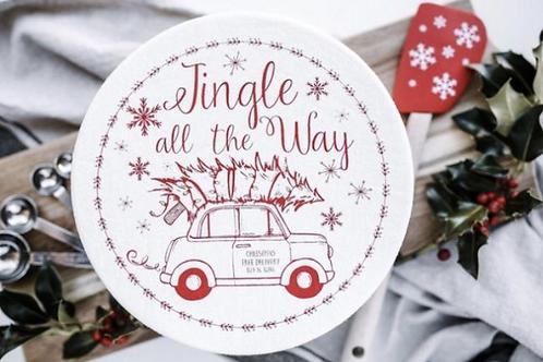 Copri piatti lavabile (Taglia L)  - Auto di Natale