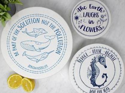 Copri piatti lavabile (Taglia M) - Cavalluccio marino