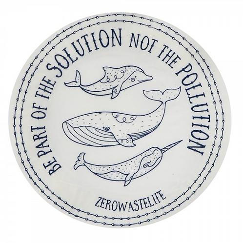 Copri piatti lavabile (Taglia L) - Balene