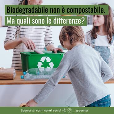 Conosci le differenze tra biodegradabile e compostabile? No? Continua a leggere.