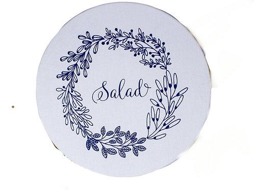Copri piatti lavabile (Taglia L) - Insalata