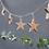 Thumbnail: Ghirlanda di stelle in legno di mango