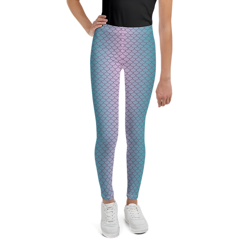 Mermaid Teal Youth Leggings