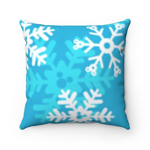 Snoap Flakes Pillow Case - Blue