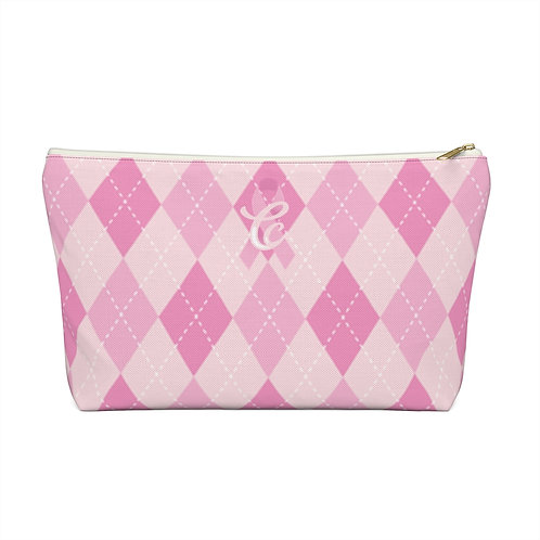 Awareness Argyle Make-up Bag