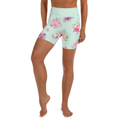 Flower & Garden Yoga Shorts