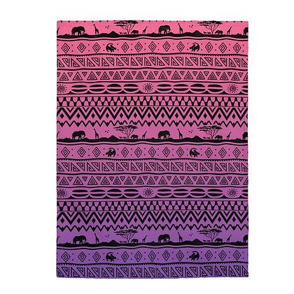 Asante Sana Plush Blanket  - Sunset