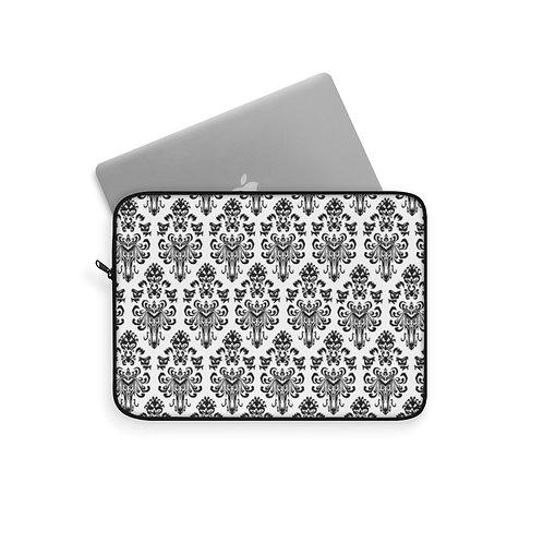 Happy Haunts Laptop Sleeve - White