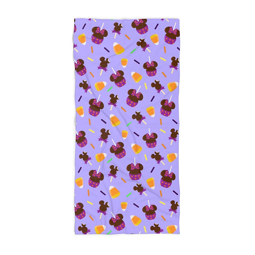 Trick or Treats Beach Towel - Purple