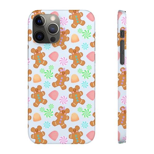 Gingerbread Phone Case - Blue