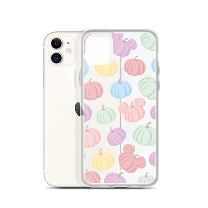 Pumpkin Patch Clear iPhone Case