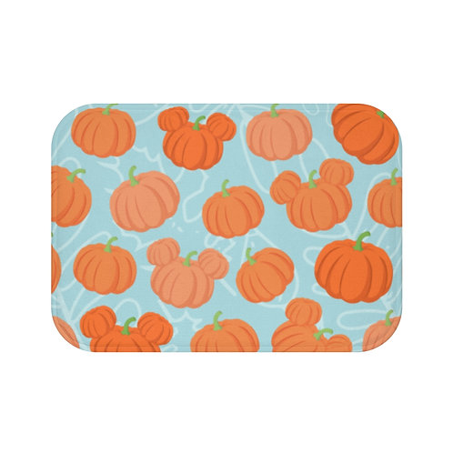 Pumpkin Patch Floor Mat - Teal
