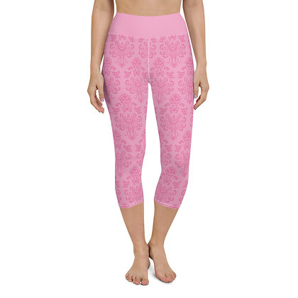Happy Haunts Yoga Capris - Pink