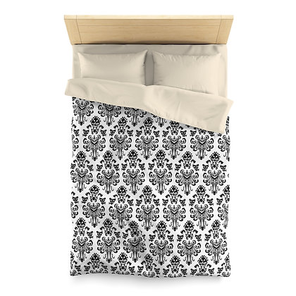 Happy Haunts Duvet Cover - White