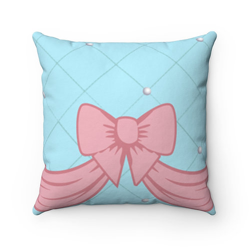 Pink Bow Pillow Case