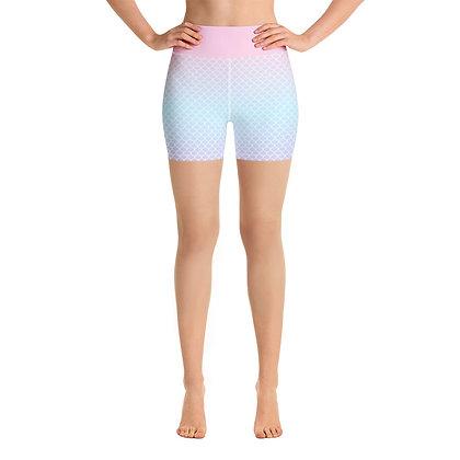 Mermaid Pink Yoga Shorts