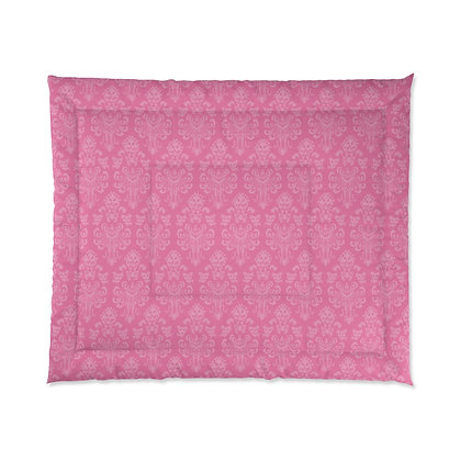 Happy Haunts Comforter - Dark Pink