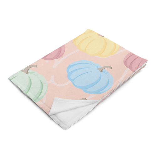 Pumpkin Patch Plush Blanket