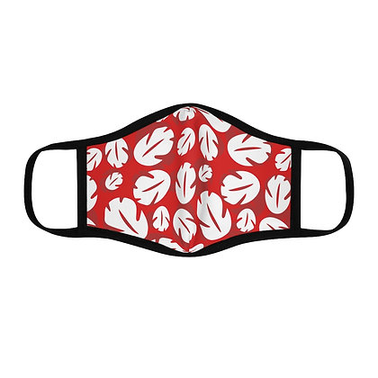 Ohana Fitted Face Mask - Red