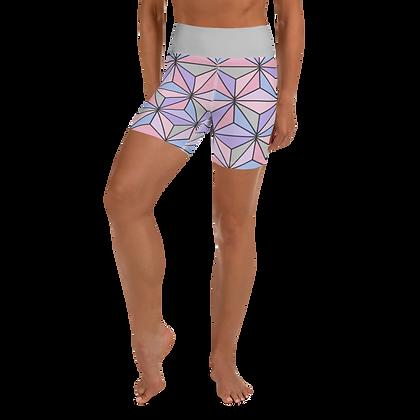 Imagination Yoga Shorts - Purple