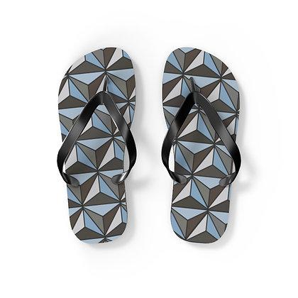 Imagination Flip Flops - Silver