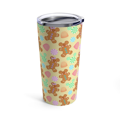 Gingerbread 20oz Tumbler - Yellow