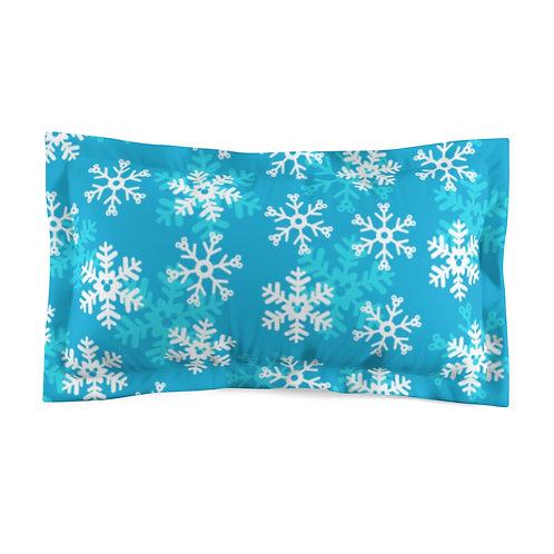 Snoap Flakes Pillow Sham - Blue