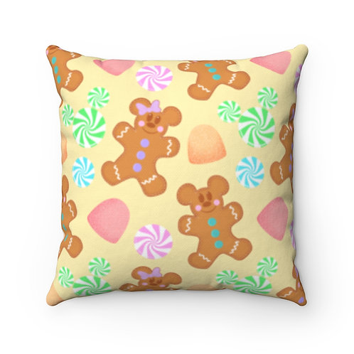 Gingerbread Pillow Case - Yellow