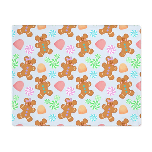 Gingerbread Placemat - Blue