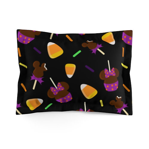 Trick or Treats Pillow Sham - Black