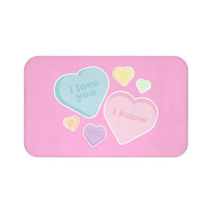 Candy Hearts Floor Mat