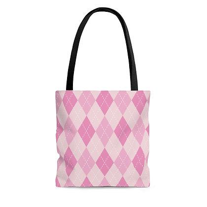 Awareness Argyle Tote Bag