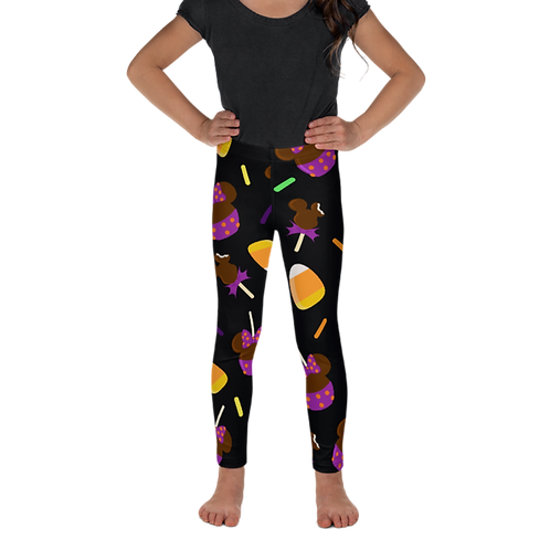 Trick or Treats Kids Leggings - Black