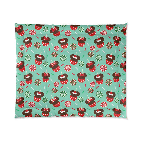Christmas Candy Comforter - Green