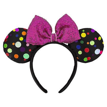 Multi-colored Polka Dot Minnie Ear Headband
