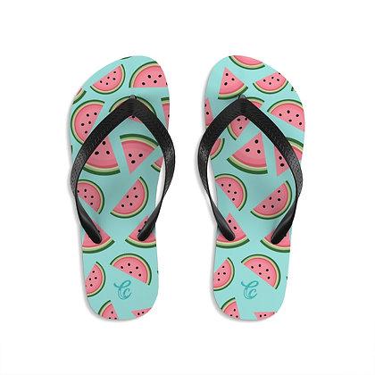 Watermelon Flip-Flops - Teal