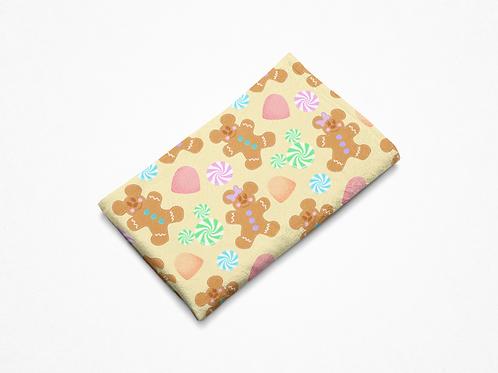 Gingerbread Plush Blanket - Yellow